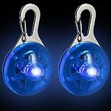 CampTeck LED Pendentif Lumineux Clignotant Nuit Sécurité pour Coureurs, Joggeurs, Marcheurs, Cyclistes, Vêtement à Haute Visibilité, Sacs à Dos et bien plus encore! - 2X Bleu