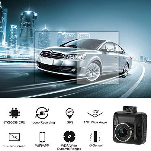 SDRFSWE 12 V Universal Hohe Qualität 1080 P Auto Dash Cam Recorder WiFi Drahtlose Dash Cam GPS Track Record Fahren Recorder Auto DVR Dropship