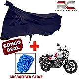 #8: Riderscart Bike Cover for Bajaj Vikrant v15 Polyester 190T Resistant UV Protection & Micro Fiber Dusting Cleaning Glove for Home,Office