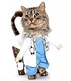 Costume da dottore per cane e gatto (L)