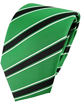 TigerTie - Corbata - verde verde brillante negro blanco rayas