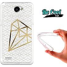 Becool® Fun - Funda Gel Flexible para LG X150 Bello 2 .Carcasa TPU fabricada con la mejor Silicona, protege y se adapta a la perfección a tu Smartphone y con nuestro diseño exclusivo Diamante