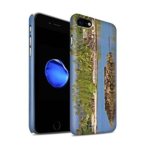 STUFF4 Matte Snap-On Hülle / Case für Apple iPhone 8 / Feuerwerk Muster / Thailand Landschaft Kollektion Felseninsel