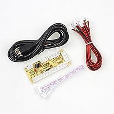 IGames Zero Ritardo USB Encoder a pc Giochi Controller Per Arcade Sanwa Kits Parti Mame Jamma & Altro giochi PC ( 5Pin Joystick + Sanwa Stile Pulsante)