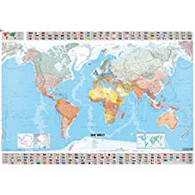 Die Welt Planoposter politisch (MICHELIN Planokarten)
