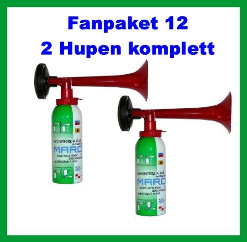 Preisvergleich Produktbild ORIGINAL Marco Fanpaket 12-----HUPEN FANSET 2 Marco Druckluftfanfaren,  die Top Hupe---kein billiges China Produkt---Hupe Fanfare Tröte Drucklufthupe