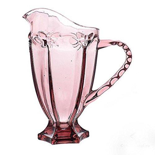 Vintage 6 Teile Set Schmetterlinge König Weinglas Glas Gläser Weingläser Wasserglas Longdrinkglas (Wasserkrug lila)