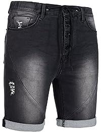 Sublevel Herren Sweat Jogg Jeans Short 61145