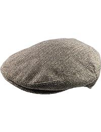 Men's Traditional Herringbone Flat Cap - Retro 30's Style