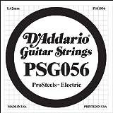 D\'Addario Corde seule pour guitare électrique D\'Addario ProSteels PSG056, .056