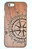 iPhone 6s Hülle (4,7 Zoll), Holzsammlung® Holz Tasche für iPhone 6s (Roseholz Kompass) - Holzsammlung® Handgefertigt Hölzernen Fall und Abdeckung für Ihr Smartphone und Tablet PC