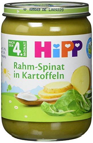 Hipp Rahm-Spinat mit Kartoffeln, 6er Pack (6 x 190g)