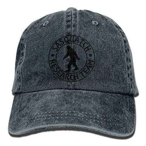 Miedhki Sasquatch Bigfoot Research Team Plain Adjustable Cowboy Deckel Denim Hat for Women and Men Fashion1