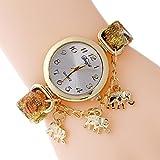 Oro Elefante Encanto Ladies Fashion reloj