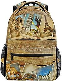 Preisvergleich für COOSUN Europäische Reise zufällige Rucksack Schultasche Reise Daypack Mehrfarbig