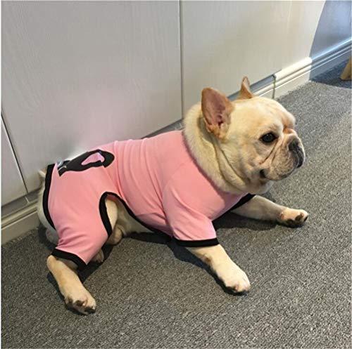 Haustier Hundemantel Puppy Kleidung Hoodies Cat Sweater Kostüm, Herbst und Winter Onesies,Rosa,XXXL