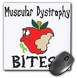 3dRose mp 120575_1 Mauspad, 20,3 x 20,3 x 0,6 cm, witziges Bewusstsein zur Unterstützung der Muskeldystrophie