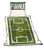 FINALE Fanartikel Bettwäsche Spielfeld  Linon mit Reißverschluss für Fussballfans 5151-001-160