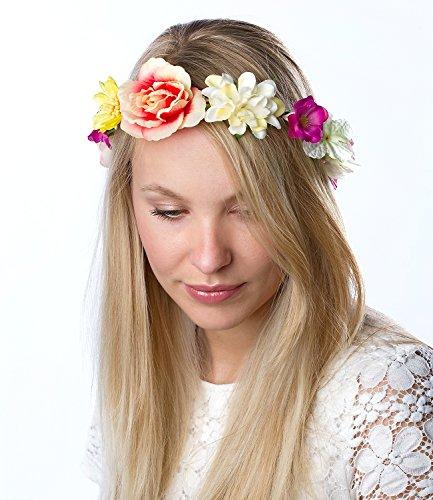 Blume Besonderen Anlass Kleid (SIX SALE - Damen Haarband, Blumenkranz, bunt (315-374))