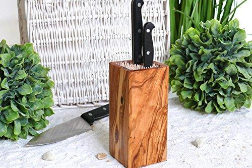 Olivenholz-erleben Formschöner Messerblock