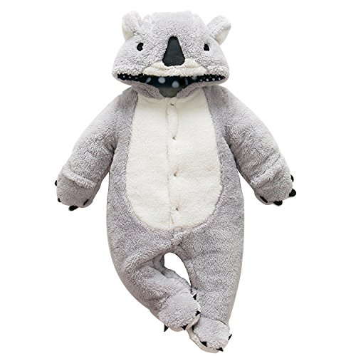 CHIC-CHIC Grenouillères Animal Combinaison Automne Hiver Barboteuse Enfant Flanelle Filles Costume Chaud Mignon Pyjama Koala 12-18mois