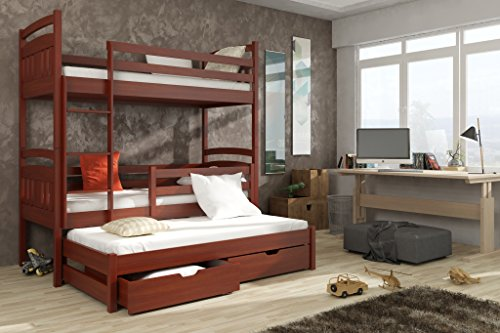 Brand New Wooden Bunk Bed with Trundle and Storage IGOR in Calvados with Mattresses sold by Arthauss (LEFT)