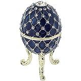 Juliana para mujer azul bonita figura trinquete huevos fabergé caja de la marca estilo en caja
