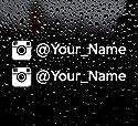 SUPERSTICKI Instagram Name nach Wahl Social Media Ca 20cm Auto Aufkleber Decal Fun Tuning Car aus Hochleistungsfolie Aufkleber Autoaufkleber Tuningaufkleber Hochleistungsfolie für alle glat