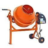 Panana - 63 Litros Hormigonera Eléctrica Mezclador de Cemento Mortero color Naranja 240V 220W 2...