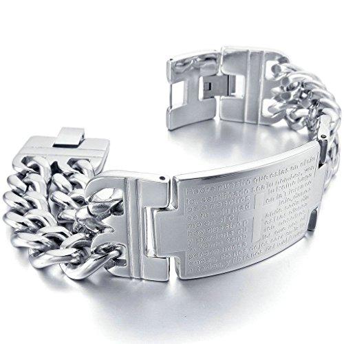 adisaer-acier-inoxydable-gourmette-hommes-bracelet-charms-priere-de-seigneurs-bible-croix-argent