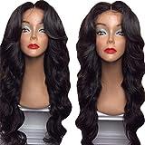 Perruque de Fibre Femme Brésilien Noir Ondulé Séparé Frisé Haute Cheveux Bouclés Température Queue de Cheval Longue Cheveux 72cm
