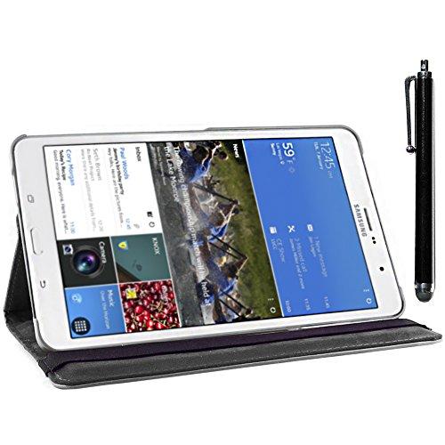 ebestStar - compatibel Samsung Galaxy Tab Pro 8.4 Hülle SM-T320 Rotierend Schutzhülle Etui, Schutz Hülle Ständer, Rotating Case Cover Stand + Stift, Schwarz [Tab: 219 x 128.5 x 7.2mm, 8.4'']