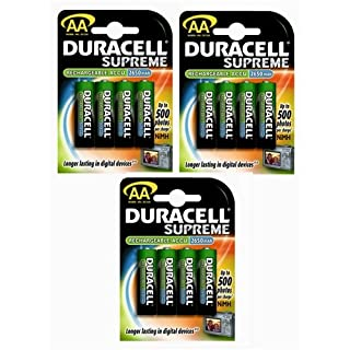 Duracell 2650mAh Rechargeable AA Batteries (3 x 4-Pack) (B001UCPRV4) | Amazon price tracker / tracking, Amazon price history charts, Amazon price watches, Amazon price drop alerts