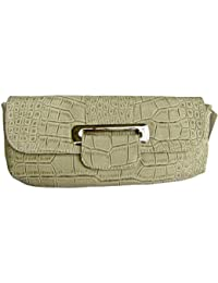 Crocodile Print LeatherClutch Faux