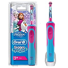 Idea Regalo - Oral-B Stages Power Spazzolino Elettrico Ricaricabile per Bambini con Personaggi Disney di Frozen, con 1 Manico e 1 Testina