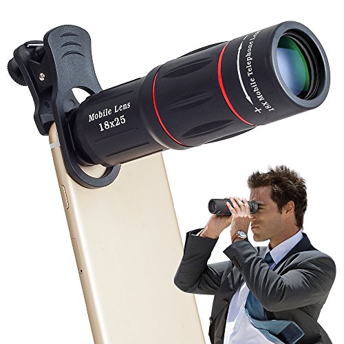 Clip-On Tele Teleskop Kamera Handy Zoom Objektiv für iPhone X / 8 7 Plus / 6S Samsung Galaxy S8 S7 Huawei und die meisten Android Smartphone (Teleskop-objektiv)