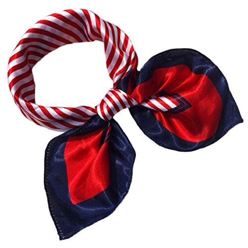 DAEDALUS Damen Nachgeahmte Seide Kopftücher quadratisch Schals Satin Stewardess...