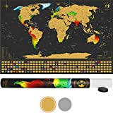 Scratch it Weltkarte zum Rubbeln - Rubbel Landkarte - Poster XXL zum Freirubbeln inkl. Geschenkverpackung (84 x 55 cm Englisch - Made in Germany)