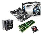 One PC Aufrüstkit   AMD A-Series A8-6600K, 4 x 3.90GHz   Richland   montiertes Aufrüstset   Mainboard: ASRock FM2A88M-HD+   16 GB RAM (2 x 8192 MB DDR3 Speicher 1600 MHz)   CPU Mainboard Bundle   Grafik: AMD Radeon HD 8570D