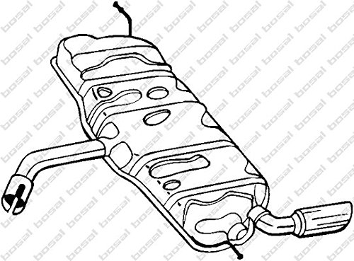 Preisvergleich Produktbild Bosal 105-503 Endschalldämpfer