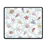 Mouse Pad, Starfish Seashells Mouse Pads, magische Tastatur PC Gaming Optical Laptop verdrahtete SurfaceMouse Pad Matte für Frauen Männer zu Hause oder Arbeit