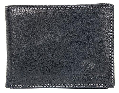 Schwarze Geldbörse aus echtem Leder You Young Coveri