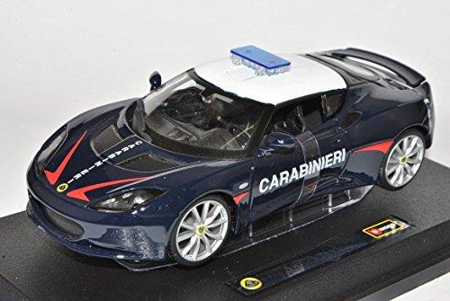 lotus-evora-s-ips-coupe-carabinieri-blau-1-24-bburago-modell-auto-mit-individiuellem-wunschkennzeich