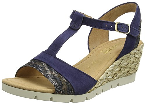 Gabor Shoes Damen 62.841 Plateau, Blau (Blue (Bast) 36), 44 EU