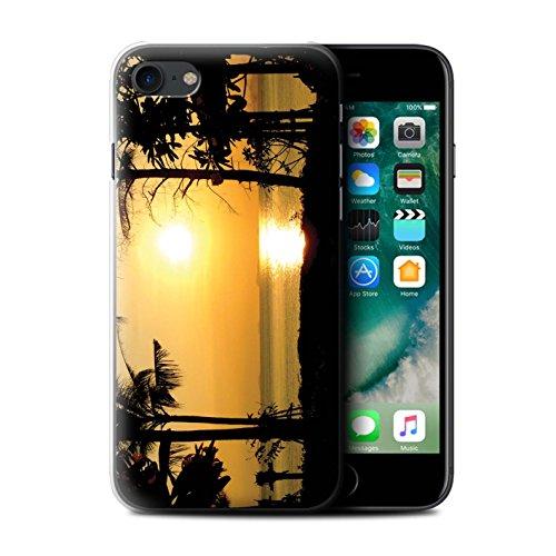 Stuff4 Hülle / Case für Apple iPhone 7 Plus / Blauer Himmel Muster / Sonnenuntergang Kollektion Tropische Bäume