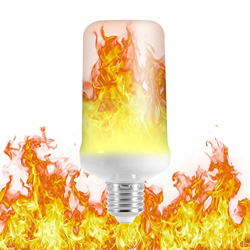Kreema 1pc LED Flamme Effekt Glühbirne E27 Base 3 Mode Flackern Lampe mit Kopf-Effekt 7W für Halloween, Haus, Bar, Party Dekoration