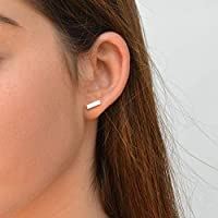 Orecchini in argento Tiny Bar 10mm Dainty Minimalist Studs