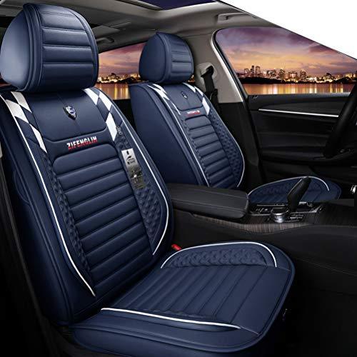 Yunchu Auto sitzbezüge Universal Autositzbezug Full Set Verschleißfeste wasserdichte Leder für 95% Auto/Truck/SUV/Van (Color : Blue) (Malibu 2009 Chevy)