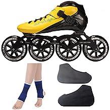 DSFGHE Patines En Línea, Zapatos para Niños Adultos, Zapatos De Velocidad, Fibra De