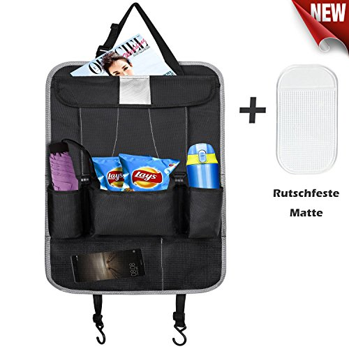 Preisvergleich Produktbild AKI Rückenlehnenschutz,Autositze Organizer Backseat Car Organizer - Kinder Spielzeug Aufbewahrung - iPad Halter, Kick Mat, Auto Organizer